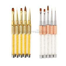 5x Nagelkunst Nailart Pinsel Set UV Gel Acryl Nagellack Malerei Zeichnung Bürste