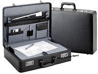 D&N Aktenkoffer Schreibplatte Dehnfalte Zahlenschloß schwarz cartafol Business