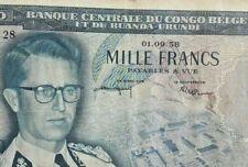 1000 Francs Congo Belge 1000 Frank Belgish Congo 1958 Ruanda Urundi P35 #F5#
