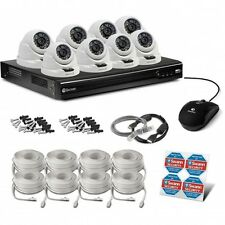 Swann NVR8-7400 8 Channel 4MP NVR & 8 x NHD-819 4MP POE IP Cameras RRP $2599