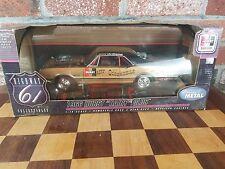 "NEW Joe Schubeck 1966 Hurst ""Hairy"" Olds Highway 61 Blk/Gold  1/18 Ertl 2002"