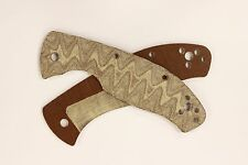 Custom Brown Micarta Scales for Spyderco Tenacious, (Handles ONLY)