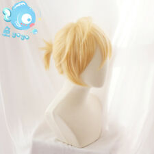 Japanese Anime Vocaloid Kagamine Len Yellow Short Cosplay Hair Wig +Wig Cap