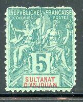 TIMBRE  COLONIES FRANCAISES / SULTANAT D'ANJOUAN / NEUF SANS GOMME N° 4 ETAT