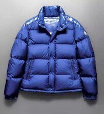 $775 MONCLER LACBLANC MATTE BLUE X SHINY TRIM PUFFER DOWN FILLED SKI JACKET