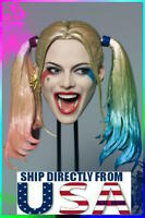 1/6 Harley Quinn Head Sculpt Suicide Squad For PHICEN Hot Toys Female Figure USA