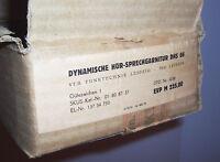 DDR Dinamico Hör - Auricolare Dhs 66 Scatola Originale Headset Vintage IN