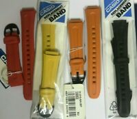 Cinturino Casio resina originale per W-210 color - giallo-arancio-rosso-nero