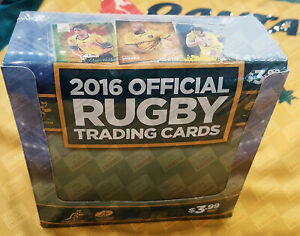 1 AUTO PER BOX ~ 2016 Tap N Play rugby union factory sealed box ~ FREE SHIPPING