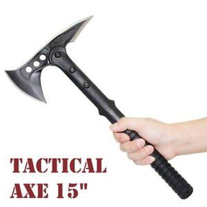 "Tactical Camping Axe Tomohawk Outdoor Hunting Survival Machete Hatchet Axes 15"""