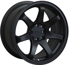 16X8 XXR 551 WHEELS 4X100/114.3 +21MM FLAT BLACK RIM FITS HONDA CIVIC DEL SO