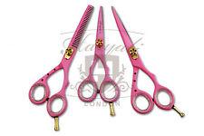 """PINK parrucchiere taglio capelli forbici Set + Custodia Gratuita FORBICI TAGLIA 5 """" & 6"""""""