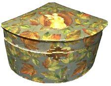 Antique Side Hinge Victorian Collar box Case Leaf Design picture authentic Rare