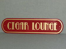 "Vintage Style Cigar Lounge Sign Art Deco Red with Gold Letters 24"" Man Cave"