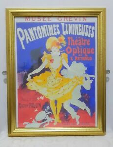 Jules Chéret Gold Framed Print Pantomimes Lumineuses - Art Nouveau -Musee Grevin