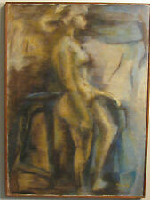ABSTRACT PAINTING OF NUDE WOMAN OIL ON CANVAS  1960s, LARGE, SIGNED