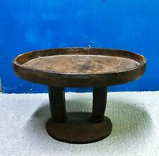 Large antique African carved wood low table