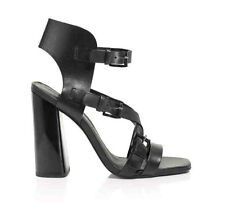 Rebecca Minkoff Black Leather Pip Buckled Strappy Sandal Shoe Sz 7.5 & 10 NEW