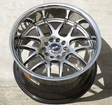 XXR 526 17X10 5x100/114.3 +20 Chromium Black Wheels  Fits 350z G35 240sx Rx8 Rx7