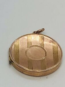 .375 9CT Gold Round Textured Locket Pendant by Britton And Sons 5g