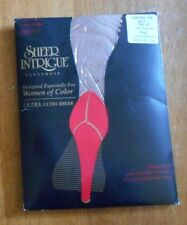 Vintage Intrigue Ultra Sheer Taupe Nylon Control Top Pantyhose Queen Plus Sz