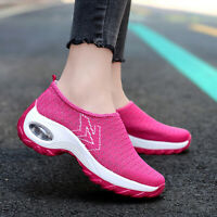 Womens Casual Shoes Size 5 6 7 8 Air Cushion Slip On Breathable Walking Sneakers