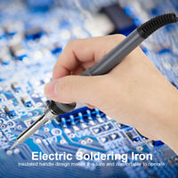 Kit Fer à Souder d'outils main température réglable 60W Électrique Plastique