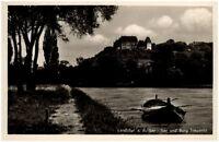 Landshut an der Isar alte Ansichtskarte 1956 gelaufen Isarpartie Burg Trausnitz