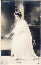 BE298 Carte Photo vintage card RPPC Femme woman Marcelle Géniat Comed. française