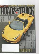 ROAD & TRACK CAR MAGAZINE - January 2012