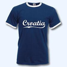 T-Shirt Retro-Shirt, WM Kroatien Croatia, Ringer T
