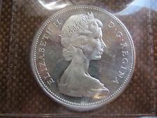 1967 Q.E.II silver canadian dollar graded MS-63