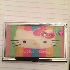 Hello kitty credit card holder ebay pink hello kitty flower business card holder credit card case reheart