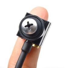 600tvl Mini screw audio SPY Camera Home Security Hidden Cam CCTV Surveillance