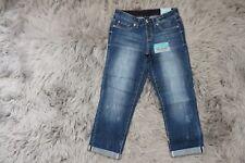81c87a1115775 Brand New Ariya Women Jeans Blue Low-Rise Pull on Crop W30