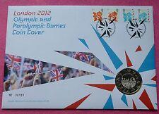 2009 Giochi Olimpici di Londra e paraolimpici inizia £ 5 cinque sterlina BU MEDAGLIA FDC PNC
