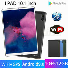 """10.1"""" 10 Core Tablet Android 9.0 WiFi Bluetooth GPS 10+512GB HD 2560* 1600 Game"""