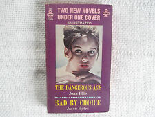 1964 The Dangerous Age/Bad By Choice Ellis/Hytes Frazetta 1st ed paperback Vg/Fn