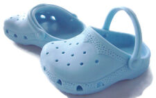 "Light Blue Krocs Shoes for 18"" American Girl & Bitty Baby Doll Clothes"