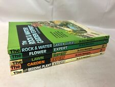 5x 'The Expert' Gardening Books Garden Bedding Plant Rock & Water Lawn Flower