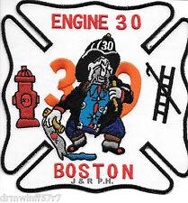 "Boston  Engine-30, MA  (5"" x 5"" size) fire patch"