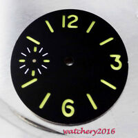 34.5mm black sterile luminous dial fit ETA 6497 movement Men's New Watch dial