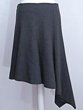 Topshop ladies grey wool blend flippy asymmetrical work business skirt size 10