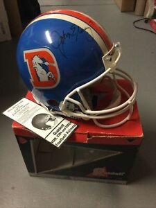 NOS Riddell VSR-4 Pro-Line Football Helmet Denver Broncos John Elway Autograph