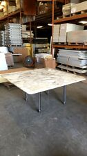 Large Authentic D'urso White Carrarra Marble Table, Great Condition