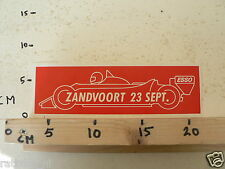 STICKER,DECAL GRAND PRIX ZANDVOORT 23 SEPT ESSO FORMULA ONE, F1