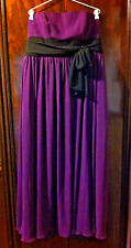 ALFRED ANGELO PURPLE/BLACK STRAPLESS EVENING DRESS SIZE 18 NEAR NEW RRP:$269.99