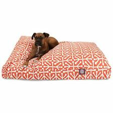 Orange Aruba Extra Large Rectangle Indoor Outdoor Pet Dog Bed With Removable .