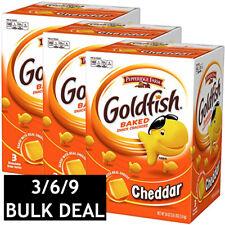 1/2/3 x PEPPERIDGE FARM GOLDFISH BAKED SNACK CRACKER CHEDDAR CHEESE 3 PACK 1.6Kg