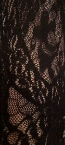 New Wolford Black lace seamed tights Medium